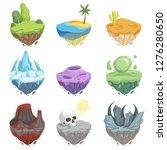 isometric islands. cartoon...