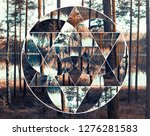 geometric collage with the... | Shutterstock . vector #1276281583