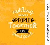 print modern food typography... | Shutterstock .eps vector #1276282456
