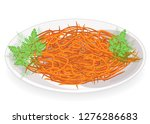 tasty dish. korean carrot with... | Shutterstock .eps vector #1276286683