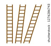 set of long stairs at different ... | Shutterstock .eps vector #1276286743