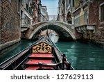 Gondola in Venice, HDR - stock photo