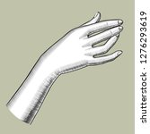 female hand stretched upwards.... | Shutterstock .eps vector #1276293619