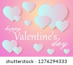 valentine's day greeting card | Shutterstock .eps vector #1276294333
