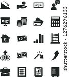 solid black vector icon set  ... | Shutterstock .eps vector #1276296133