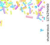 sprinkles grainy. sweet... | Shutterstock .eps vector #1276296460