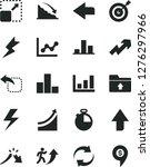solid black vector icon set  ... | Shutterstock .eps vector #1276297966