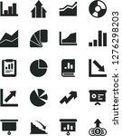 solid black vector icon set  ... | Shutterstock .eps vector #1276298203