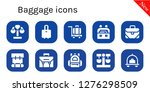 baggage icon set. 10 filled... | Shutterstock .eps vector #1276298509