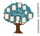 family tree with photo frame... | Shutterstock .eps vector #1276298779