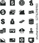 solid black vector icon set  ... | Shutterstock .eps vector #1276298983