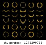 collection of different golden... | Shutterstock .eps vector #1276299736