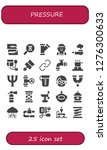 pressure icon set. 25 filled... | Shutterstock .eps vector #1276300633