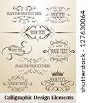 set of calligraphic design... | Shutterstock .eps vector #127630064