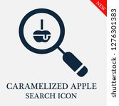 caramelized apple search icon....   Shutterstock .eps vector #1276301383