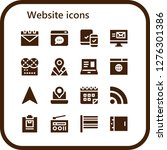 website icon set. 16 filled...