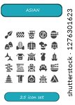 asian icon set. 25 filled... | Shutterstock .eps vector #1276301623