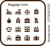baggage icon set. 16 filled... | Shutterstock .eps vector #1276301923