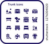 trunk icon set. 16 filled... | Shutterstock .eps vector #1276304020