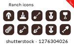 ranch icon set. 10 filled...   Shutterstock .eps vector #1276304026