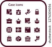 case icon set. 16 filled case... | Shutterstock .eps vector #1276304056