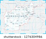 afghanistan map political  ... | Shutterstock .eps vector #1276304986