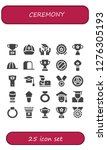 ceremony icon set. 25 filled... | Shutterstock .eps vector #1276305193