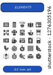 elements icon set. 25 filled... | Shutterstock .eps vector #1276305196