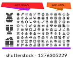 life icon set. 120 filled life ... | Shutterstock .eps vector #1276305229