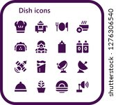 dish icon set. 16 filled dish... | Shutterstock .eps vector #1276306540