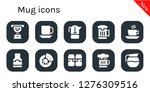 mug icon set. 10 filled mug...   Shutterstock .eps vector #1276309516