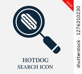 hotdog search icon. editable...   Shutterstock .eps vector #1276310230