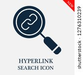 hyperlink search icon. editable ... | Shutterstock .eps vector #1276310239