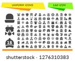 uniform icon set. 120 filled... | Shutterstock .eps vector #1276310383