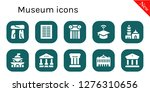 museum icon set. 10 filled... | Shutterstock .eps vector #1276310656