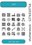 net icon set. 25 filled net...   Shutterstock .eps vector #1276310716