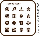 second icon set. 16 filled... | Shutterstock .eps vector #1276312843