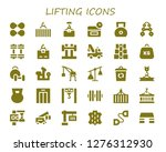 lifting icon set. 30 filled... | Shutterstock .eps vector #1276312930