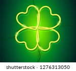 shining green neon lamp vector... | Shutterstock .eps vector #1276313050