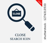 close search icon. editable...