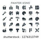 painter icon set. 30 filled... | Shutterstock .eps vector #1276313749