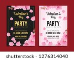 valentine's day party flyer... | Shutterstock .eps vector #1276314040
