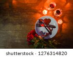 valentines dinner romantic love ... | Shutterstock . vector #1276314820