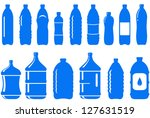 set of isolated water bottle... | Shutterstock .eps vector #127631519