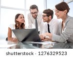 successful business team in the ... | Shutterstock . vector #1276329523