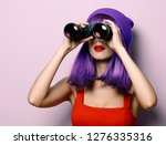 portrait of young style hipster ... | Shutterstock . vector #1276335316