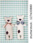 Handmade Teddy Bears Pair On...