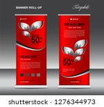 red roll up banner template... | Shutterstock .eps vector #1276344973