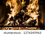 barbecue fire abstract... | Shutterstock . vector #1276345963