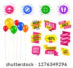 balloons party. sales banners.... | Shutterstock .eps vector #1276349296